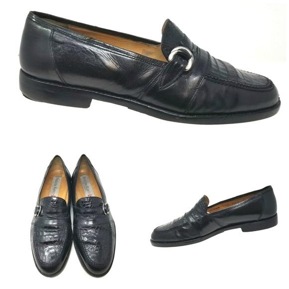 Paolo de Marco Shoes | Sz 10 M Black Alligator Loafers | Poshmark